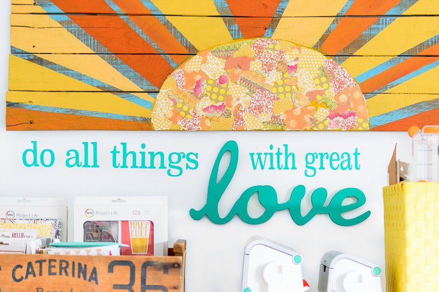 Do all things with great love wall art