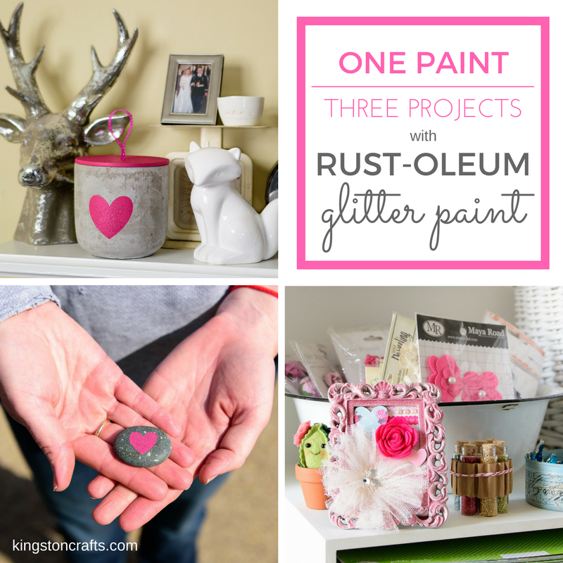 One Paint Three Projects with Rust-Oleum Glitter Paint