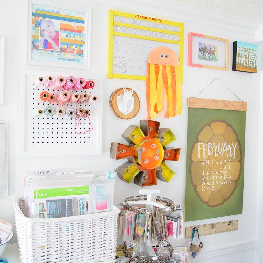 Bright craft room