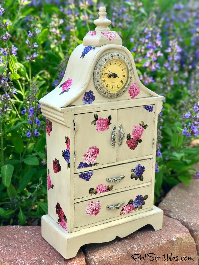 flower garden clock Mod Podge craft project