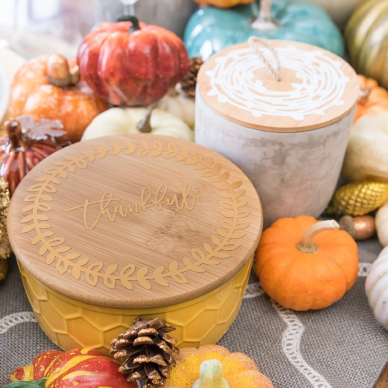 Thanksgiving day home décor with cricut