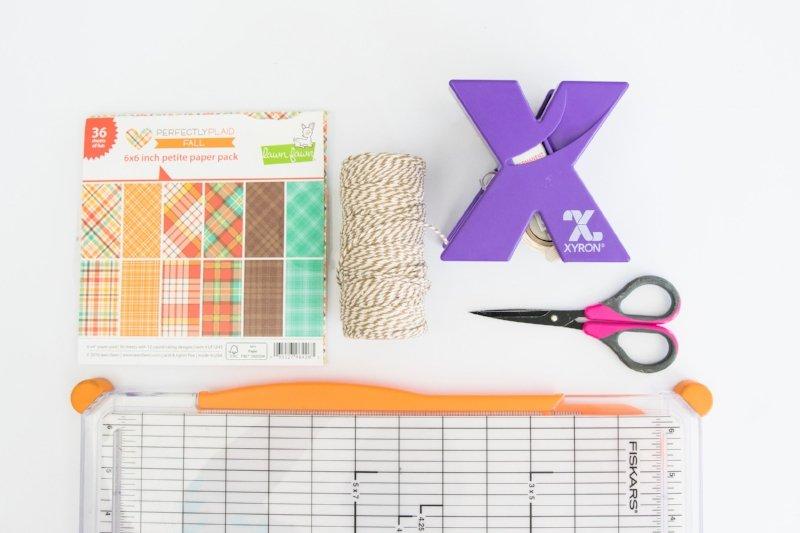 xyron sticker maker and no sew paper garland supplies