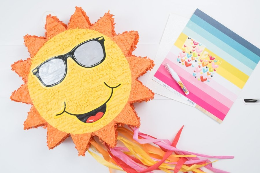 piñata and scrapbooking supplies