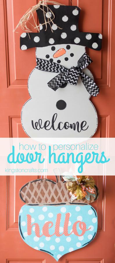 how to personalize door hangers