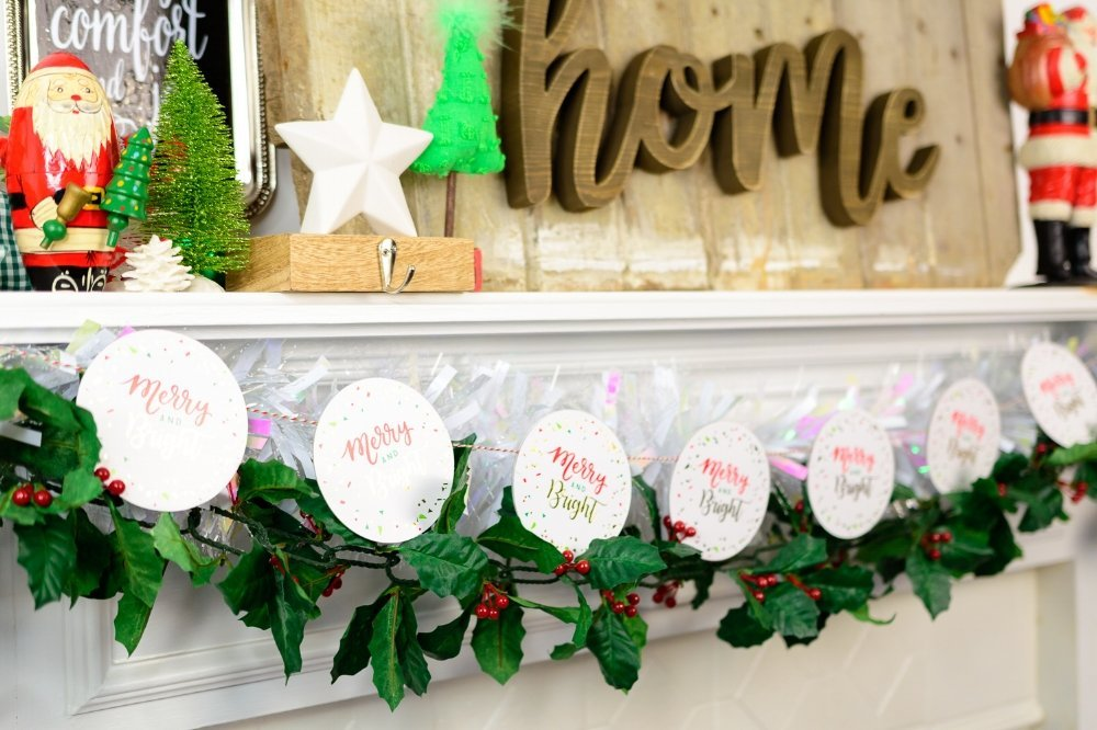 quick christmas coaster garland