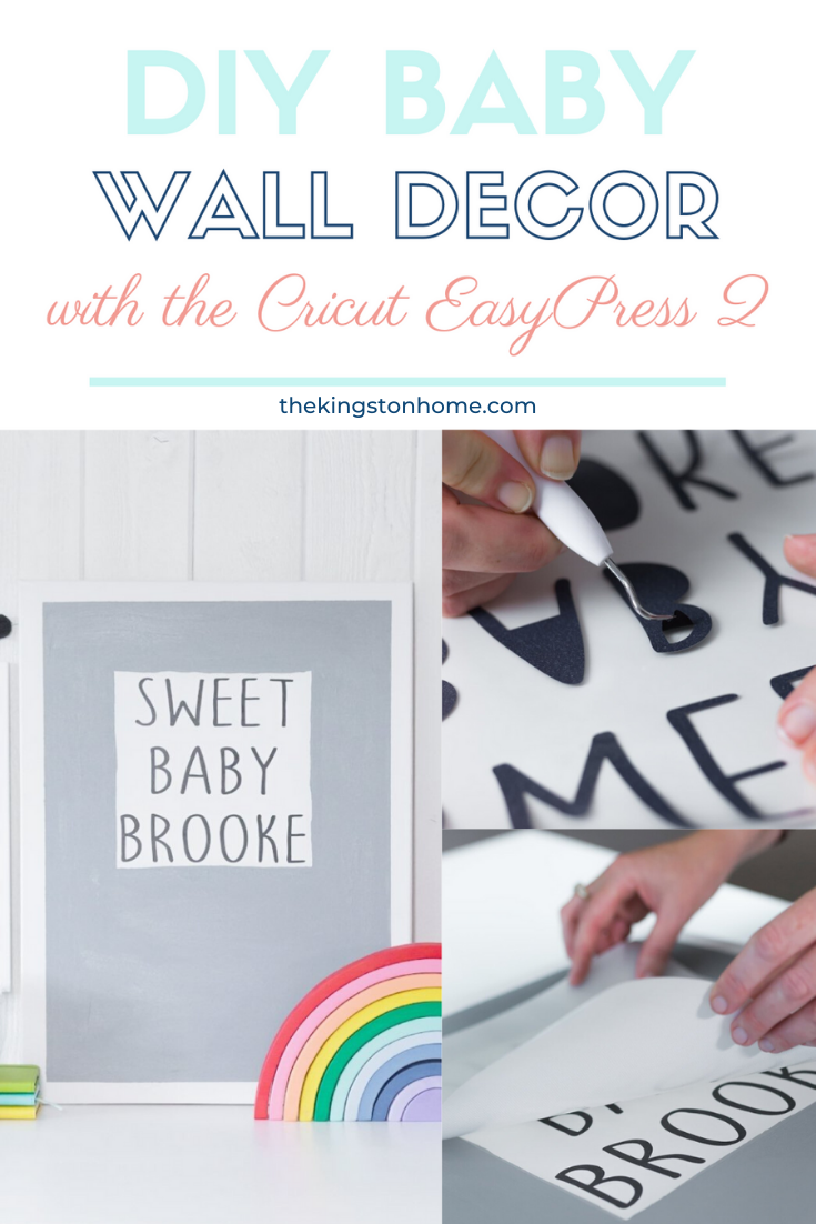 Create Baby Wall Decor with the Cricut EasyPress 2 - The Kingston Home: I love creating personalized gifts - especially for new little ones! Thanks to my Cricut Maker and EasyPress 2 I can create custom baby wall decor that really makes a statement. via @craftykingstons
