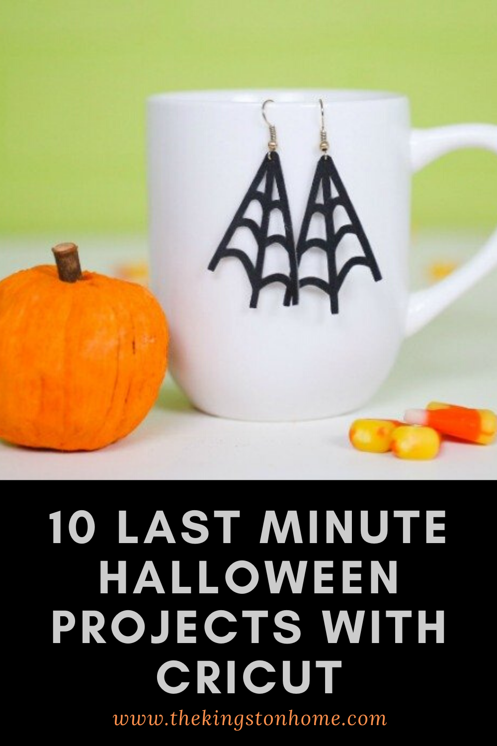 10 Last Minute Halloween Projects with Cricut - The Kingston Home: With Halloween fast approaching, we've got 10 last minute projects you can make with the help of your Cricut machine! via @craftykingstons