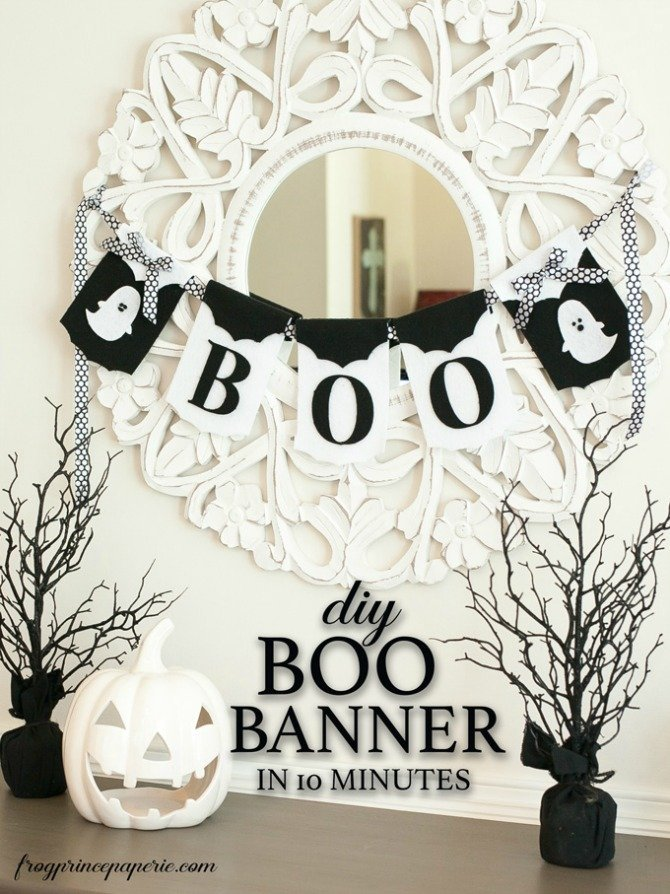 boo banner from Frog Prince Paperie