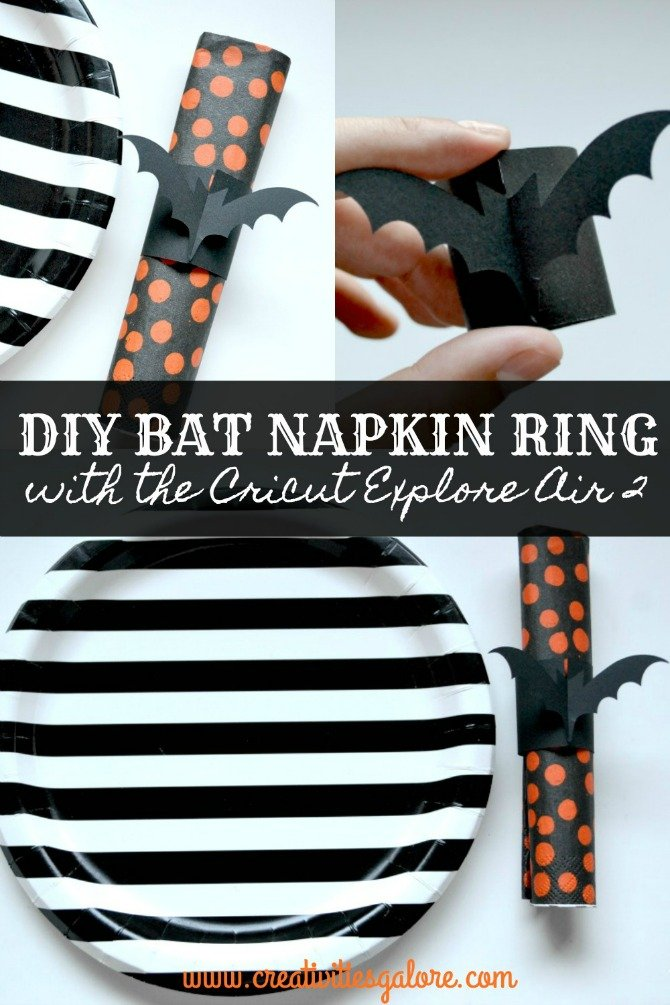 bat napkin rings from Creativities Galore