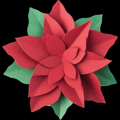 A close up of a red paper flower
