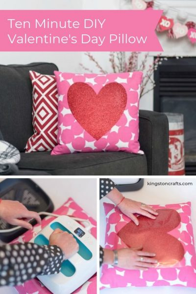 Ten Minute DIY Valentine's Day Pillow - Kingston Crafts