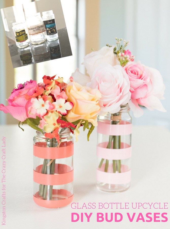 DIY Flower Vase with Reculced Glass Jar