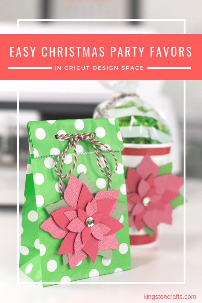 easy Christmas party favor in Cricut design space from The Kingston Home