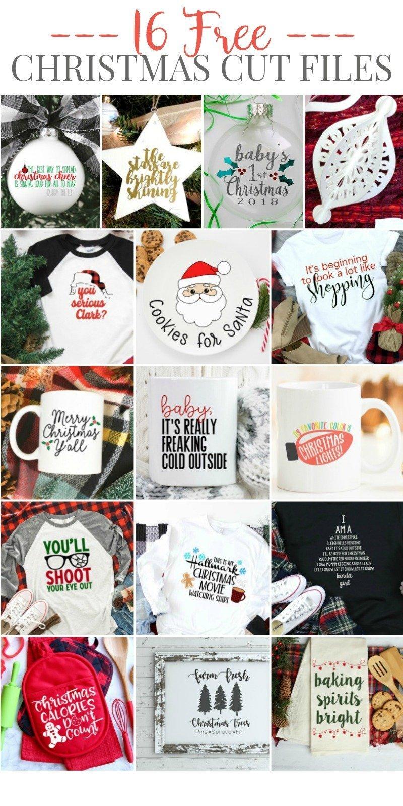 16 Free Christmas Cut Files