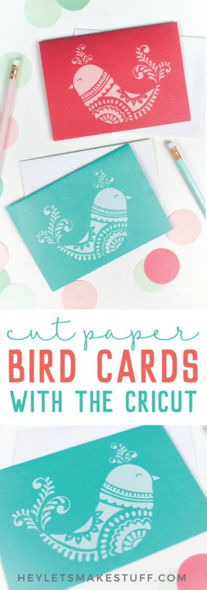 Hey Let's Make Stuff Christmas bird cards