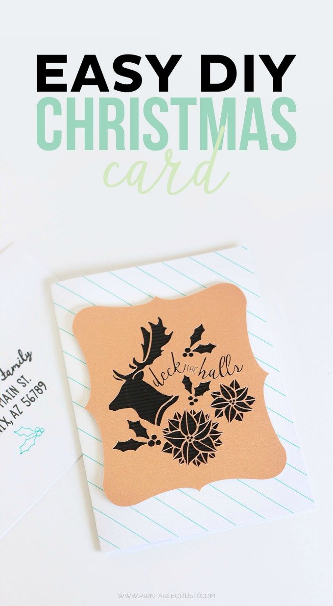 Printable Crush Easy DIY Christmas Card
