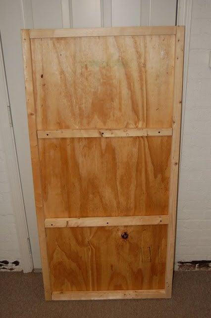 wood panel bench top for unused bathtub