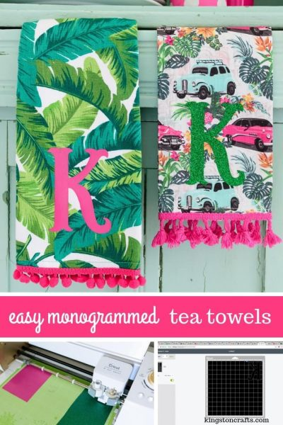 Easy Customized Hostess Gifts – Monogrammed Tea Towels - Kingston Crafts