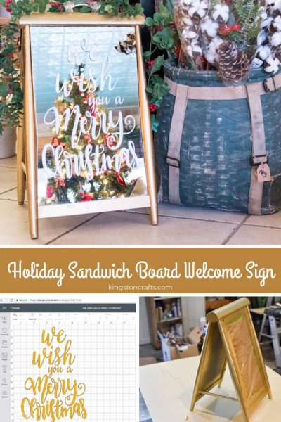 Holiday Sandwich Board Welcome Sign - Kingston Crafts