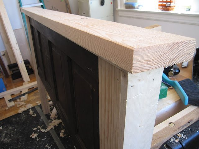side of headboard made from door
