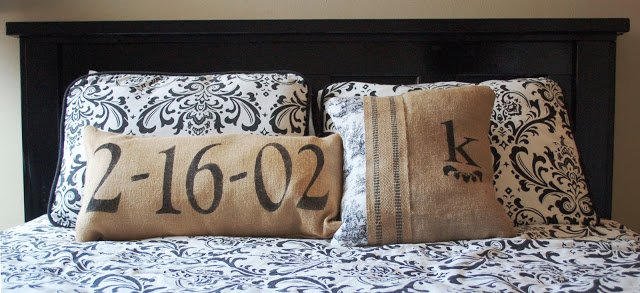 farmhouse chic bedroom with headboard made from old door