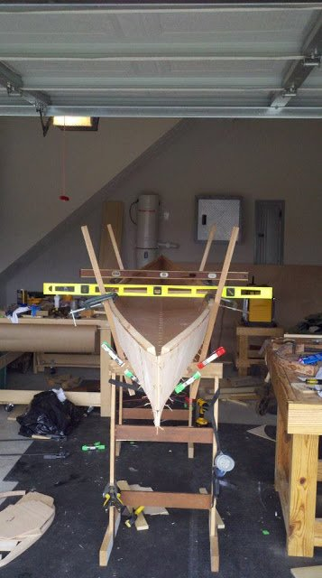 Making Do...a Lesson in Gratitude canoe being build in workshop