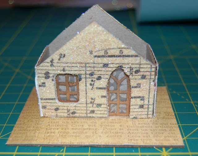 Melissa Frances Chipboard House with no roof on cutting mat