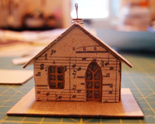 Melissa Frances Chipboard House with ornament holder