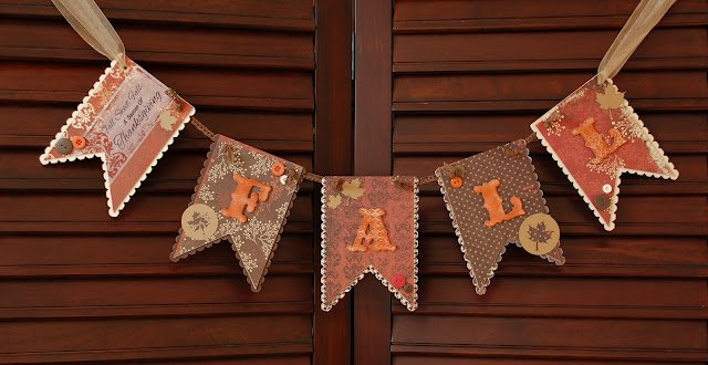 brown paper fall banner