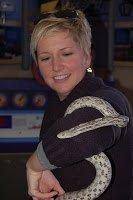Beth Kingston holding snake