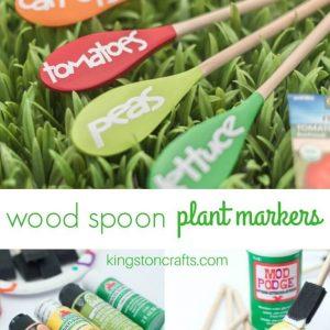 Wood Spoon Garden Markers - Kingston Crafts