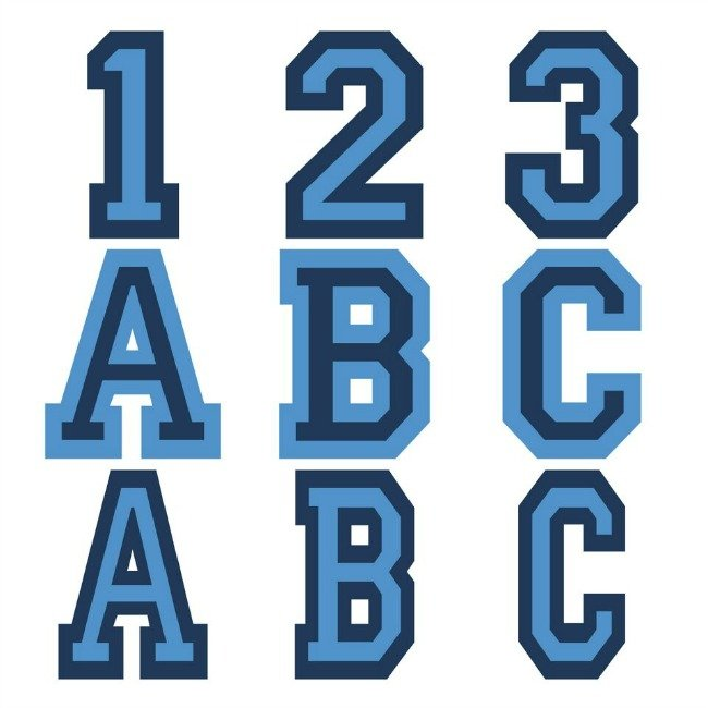 Varsity Letter font in Cricut Design Space