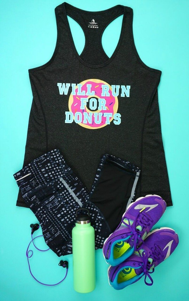 will run for donuts t-shirt made with Cricut