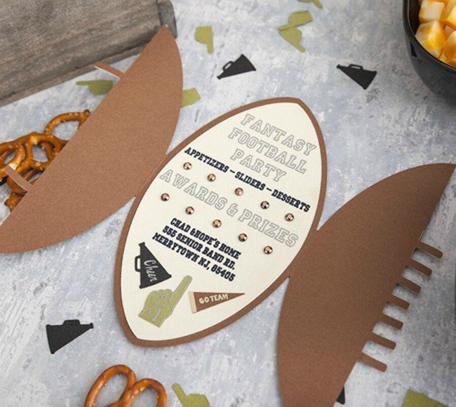football party invitations made with Cricut
