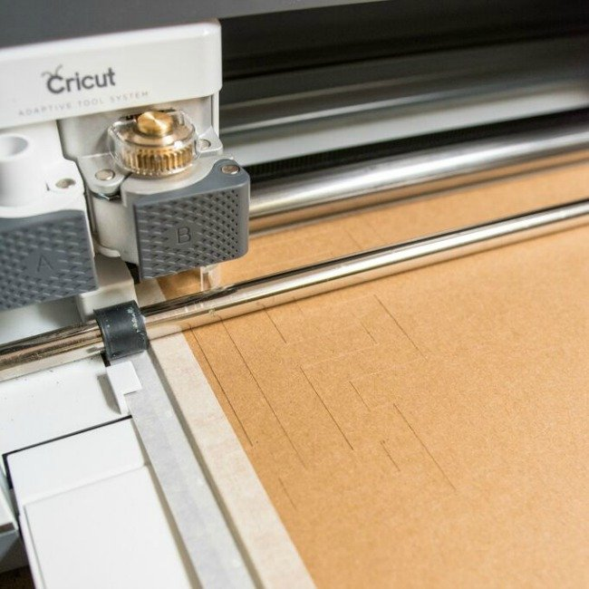 Cricut cutting out chipboard words