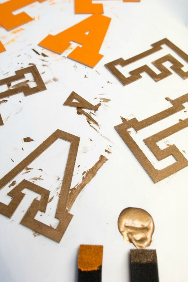 paint fall chipboard words