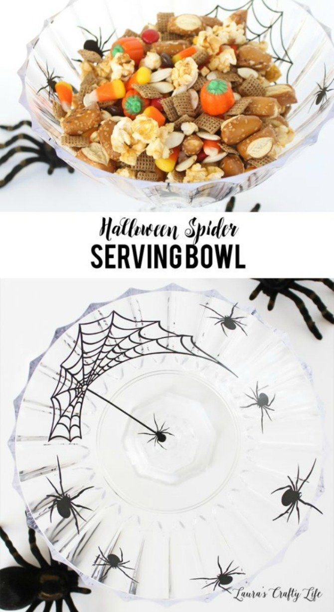 spider serving bowl from Laura's Crafty Life