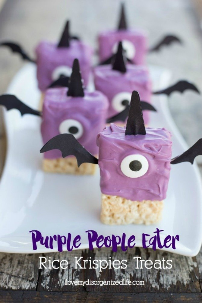 purple people eater treats from I Love My Disorganized Life