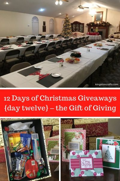12 Days of Christmas Giveaways {day twelve} – the Gift of Giving - Kingston Crafts