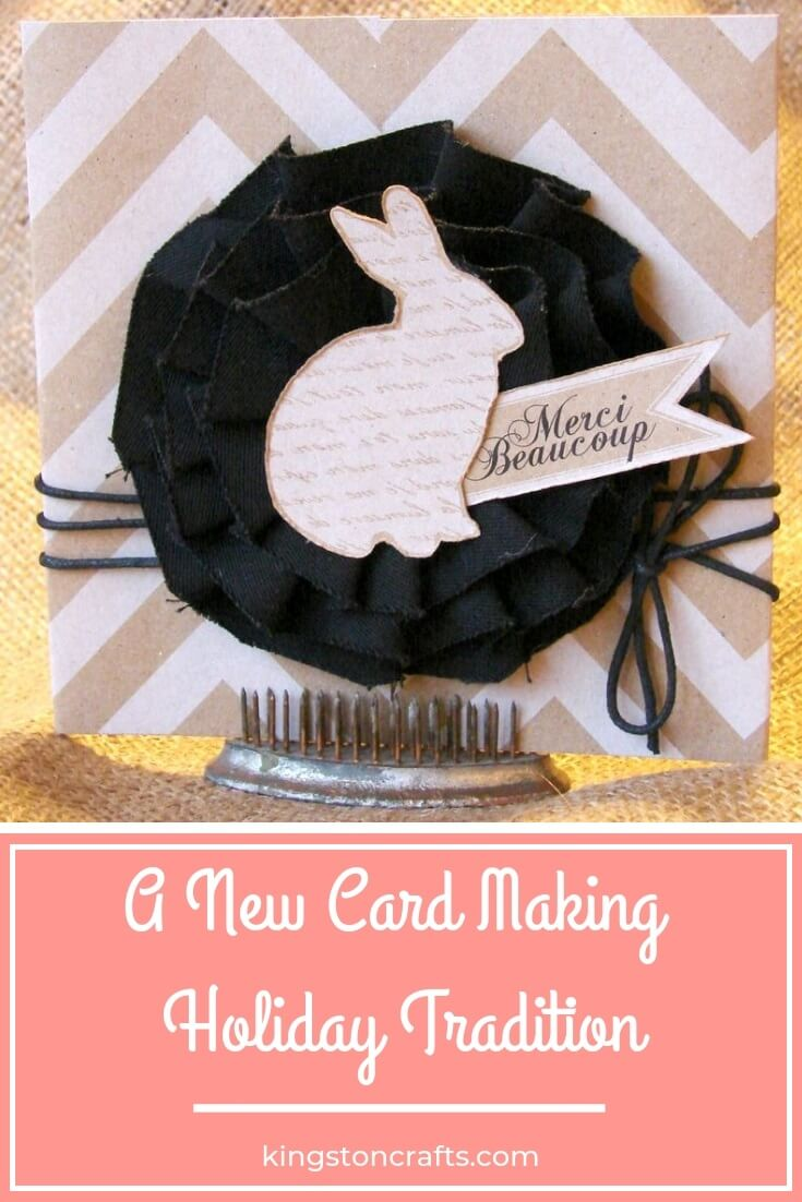 A New Card Making Holiday Tradition - The Kingston Home: Who said that making handmade cards had to be stressful or an all-day event? If you are like me and are tired of feeling guilty about your cardmaking or lack of cardmaking during the holiday season, then join me in my new cardmaking tradition! via @craftykingstons
