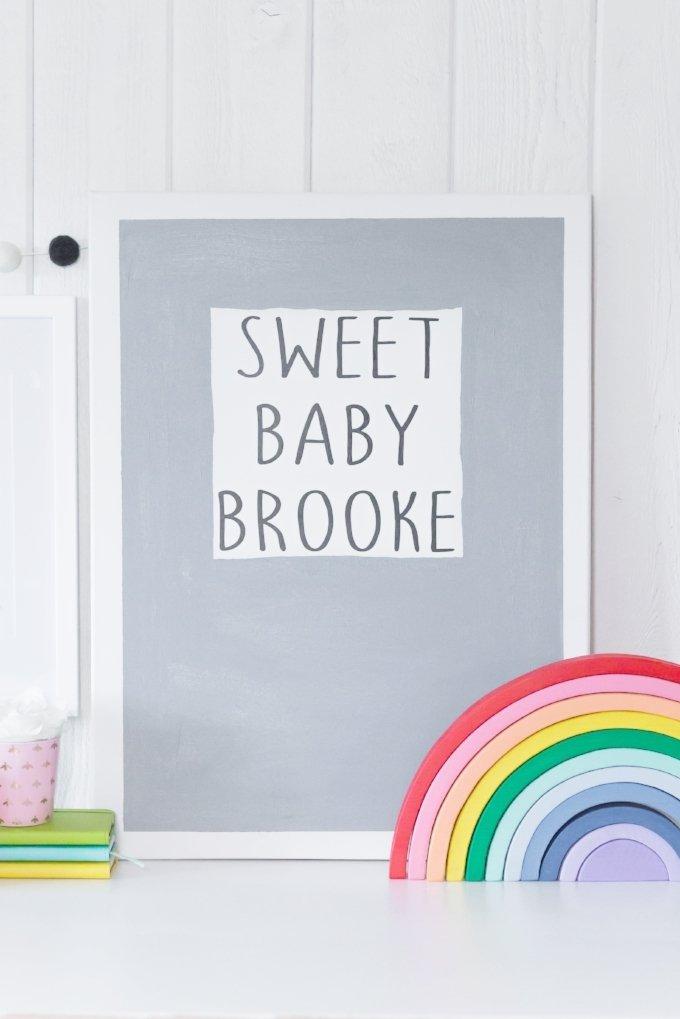 custom baby wall decor with cricut
