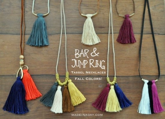 Tassel Necklaces from madeinadday.com