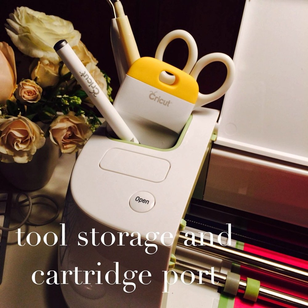 new tool storage and cartridge port on cricut explore machine