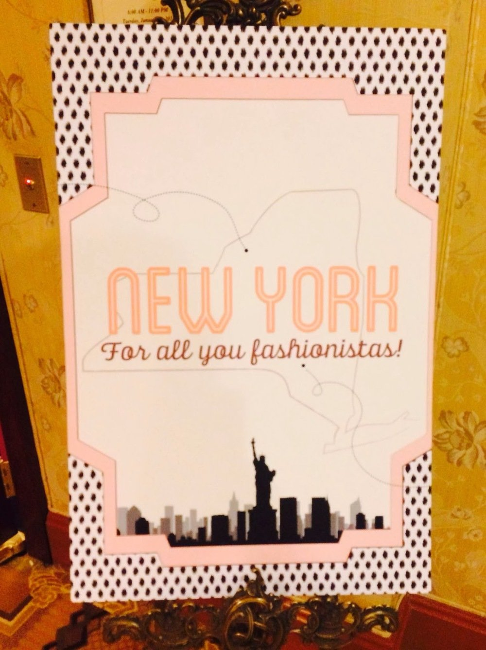 pink and black new york card
