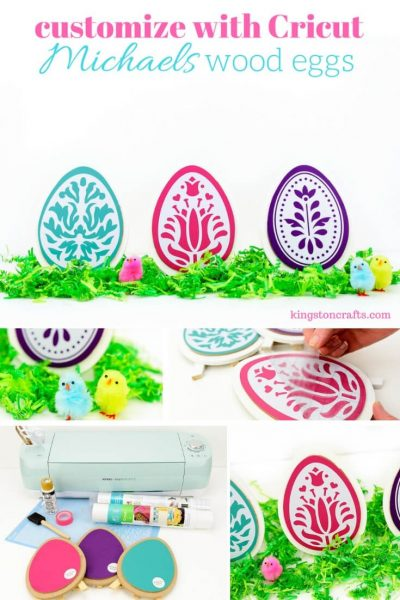 Customizing Wood Easter Eggs from Michaels - Kingston Crafts