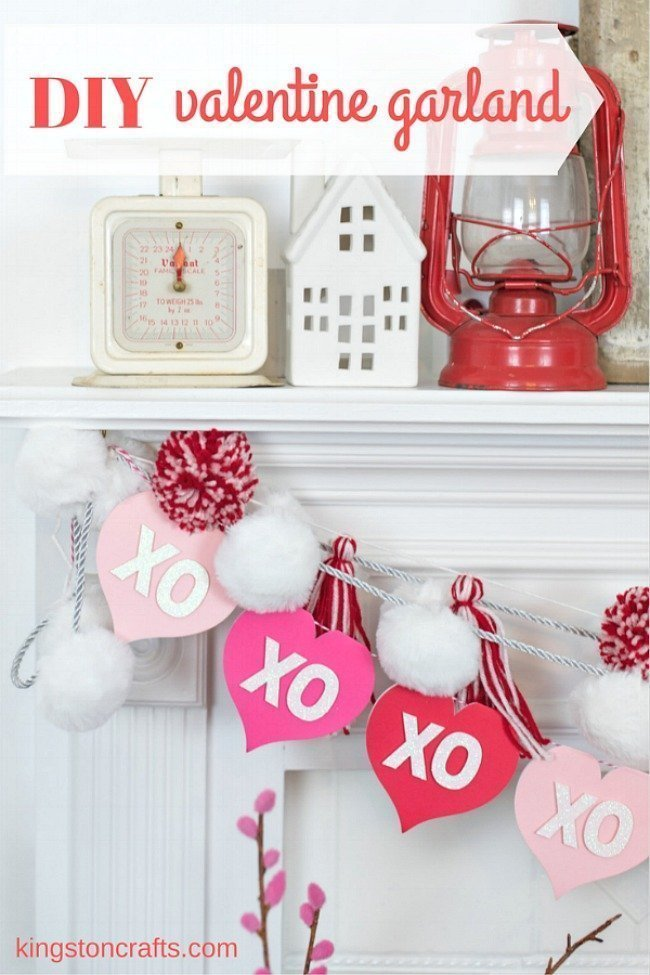 Valentine\'s Day XO red and pink banner