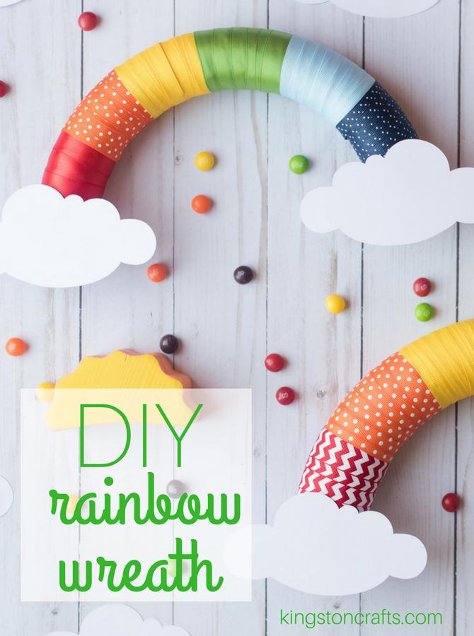 DIY Rainbow Wreath Craft from The Kingston Home