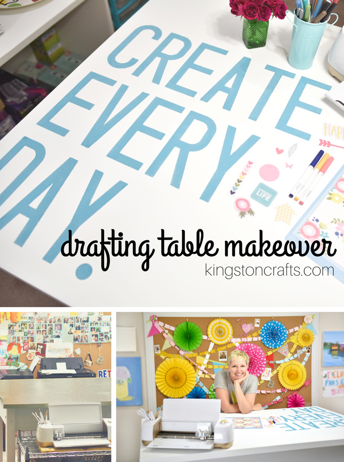 drafting table makeover kingston crafts