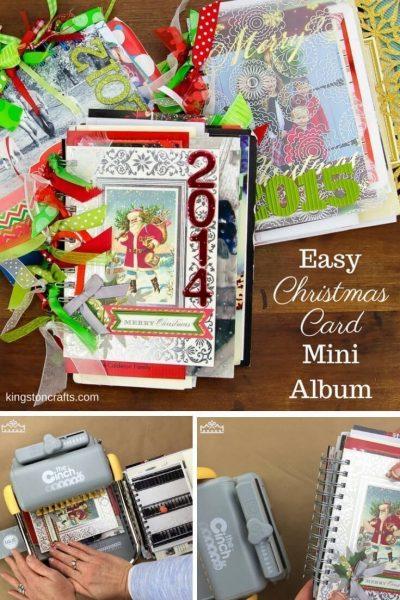 Easy Christmas Card Mini Album - Kingston Crafts