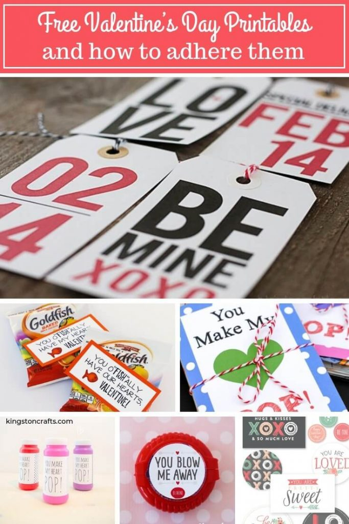 FREE Valentine's Day Printables and how to adhere them (as seen on HSN!) - Kingston Crafts